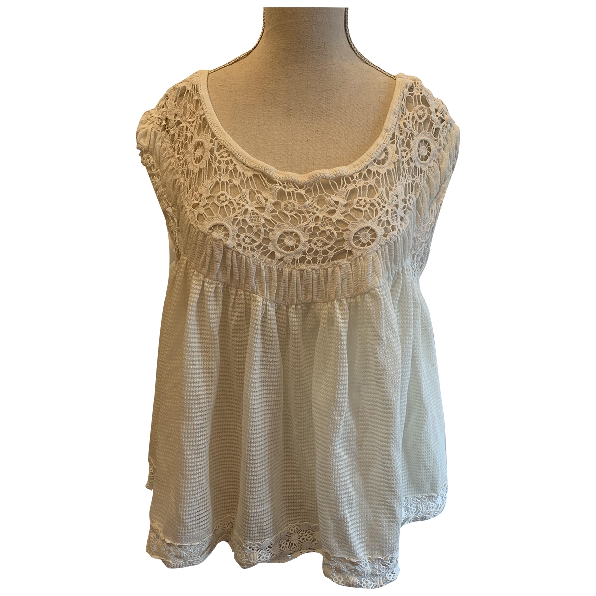 Free People \N Ecru Cotton  top for Women XS International
