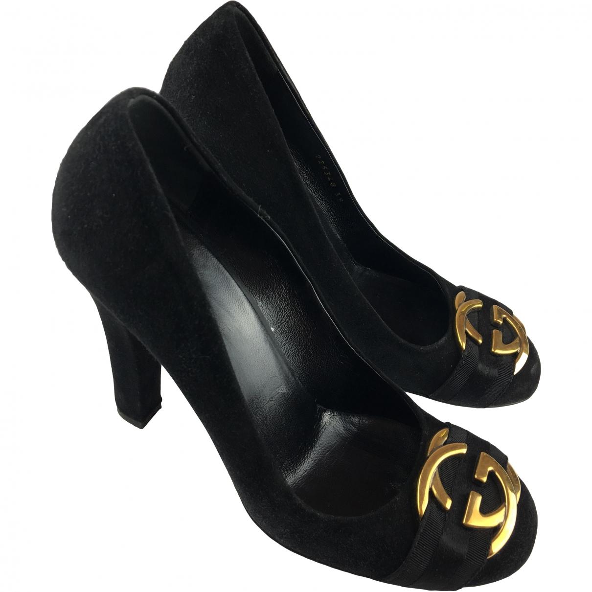 Gucci \N Black Suede Heels for Women 39 EU