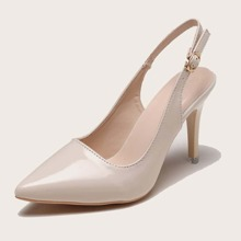 Pointed Toe Slingback Stiletto Heels