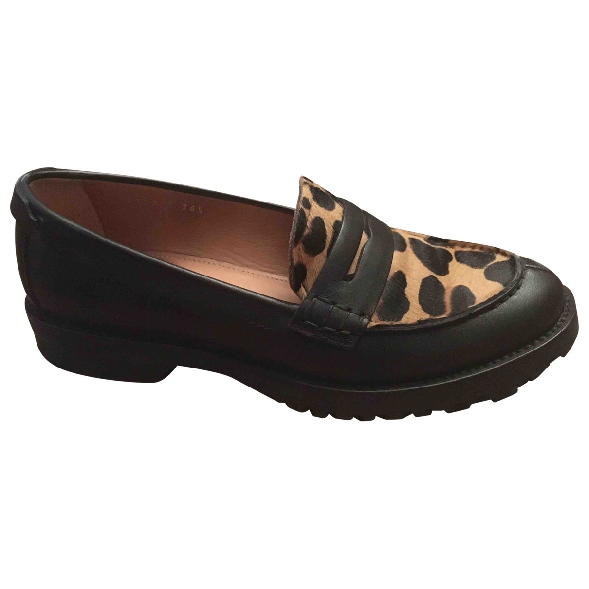Carshoe \N Black Leather Flats for Women 36.5 IT