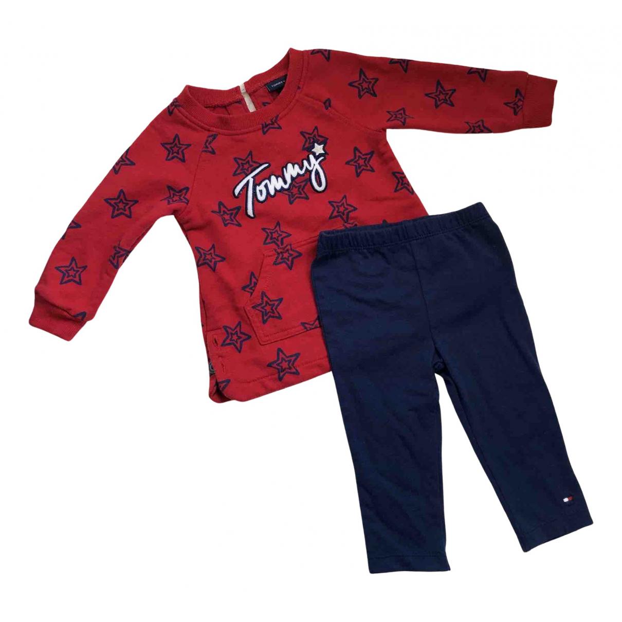Tommy Hilfiger - Les ensembles   pour enfant en coton - rouge