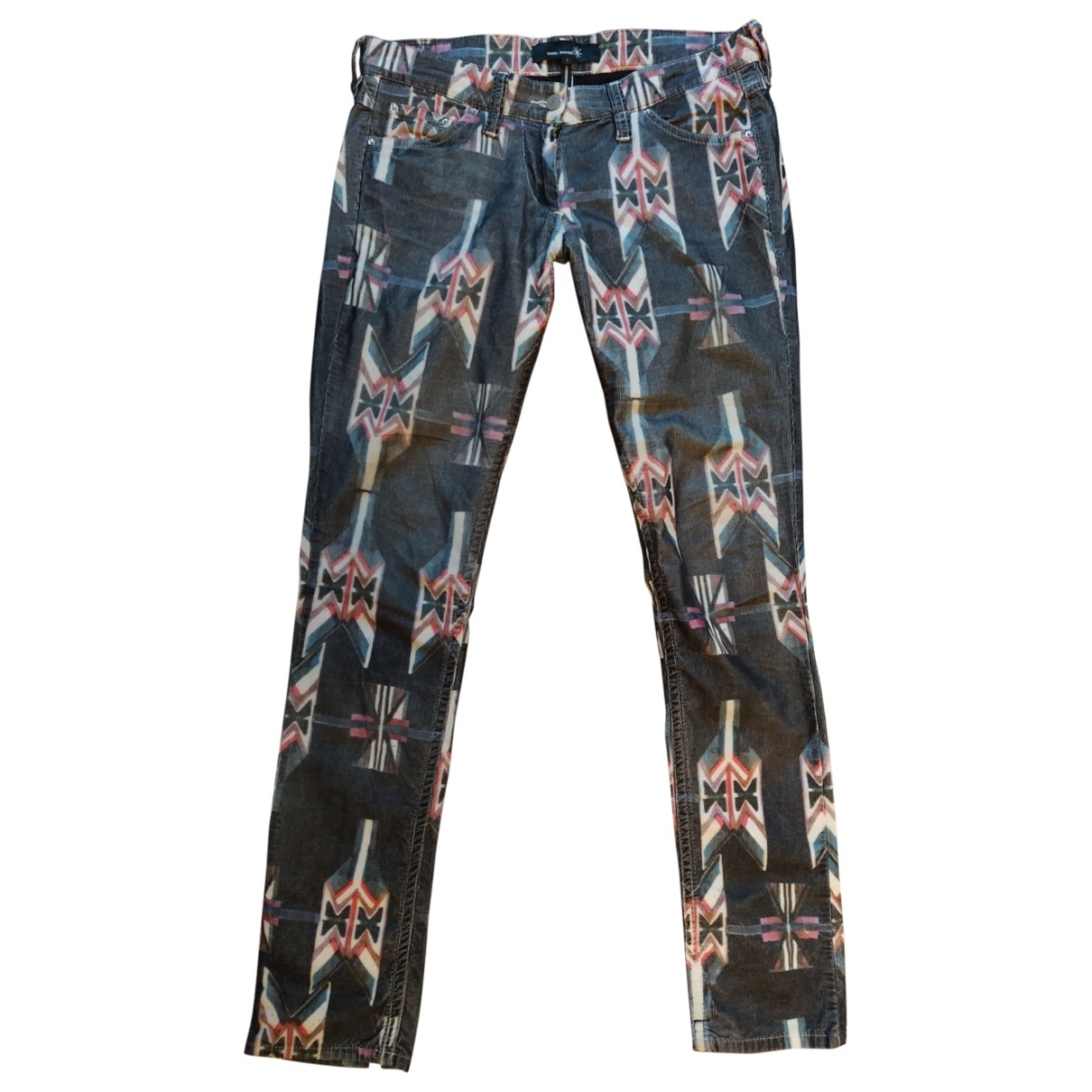 Isabel Marant \N Navy Cotton Trousers for Women 38 FR