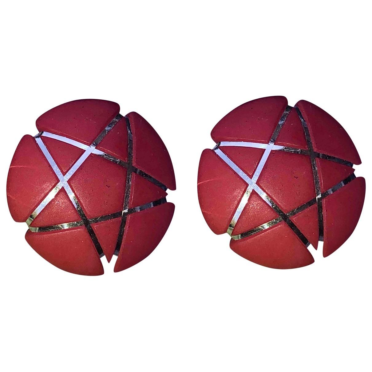 - Boucles doreilles Motifs Etoiles pour femme en autre - rouge