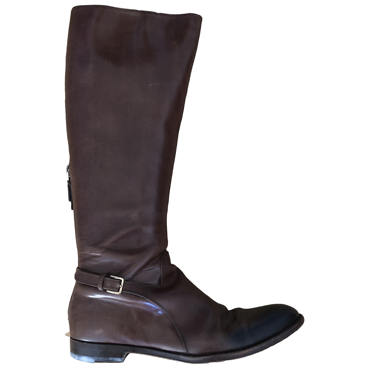 Sergio Rossi \N Brown Leather Boots for Women 38 IT