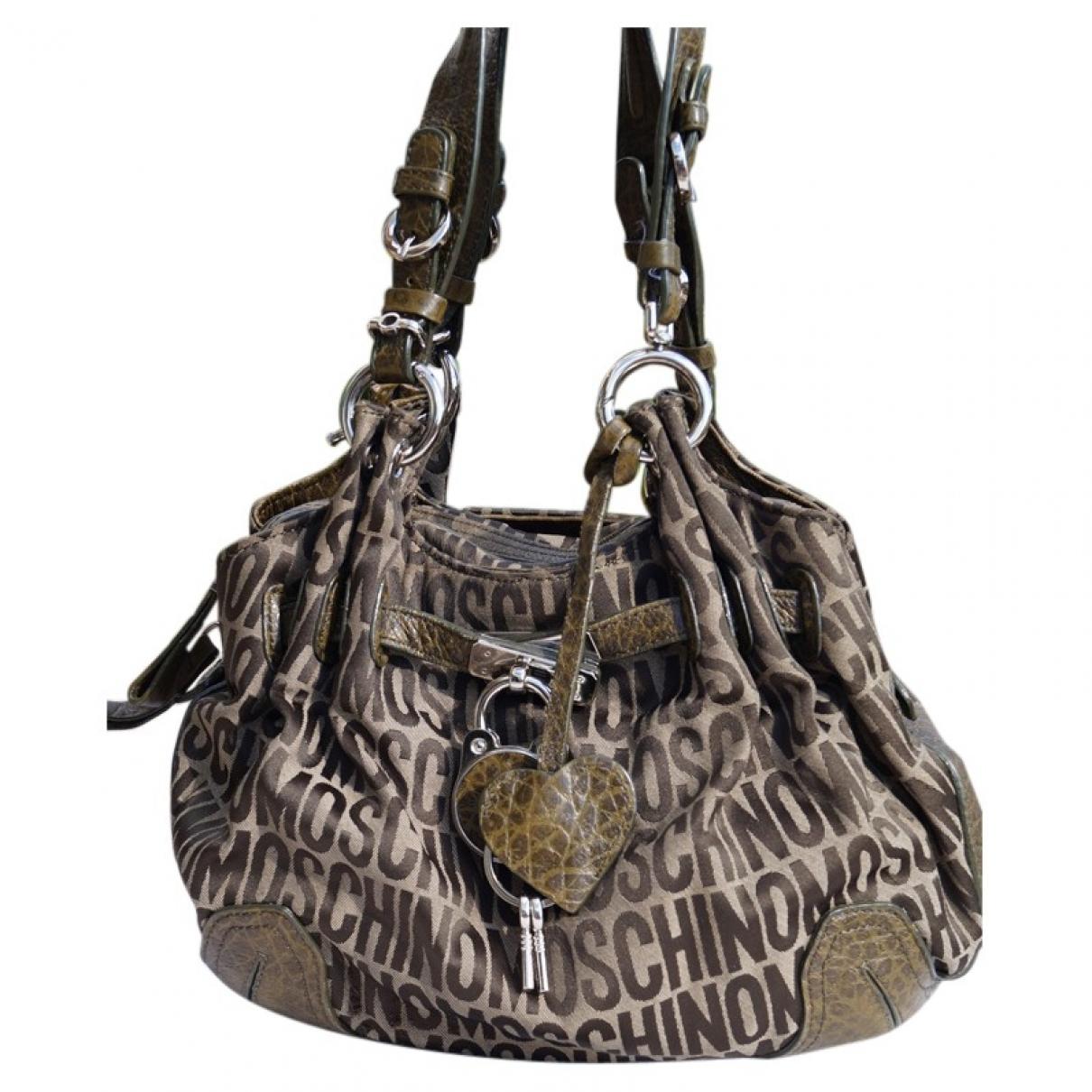 Moschino \N Khaki Cloth handbag for Women \N