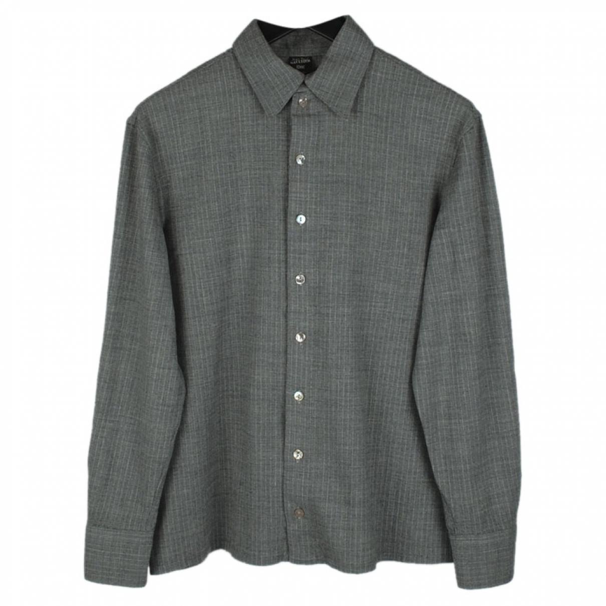 Jean Paul Gaultier - Chemises   pour homme en laine - gris