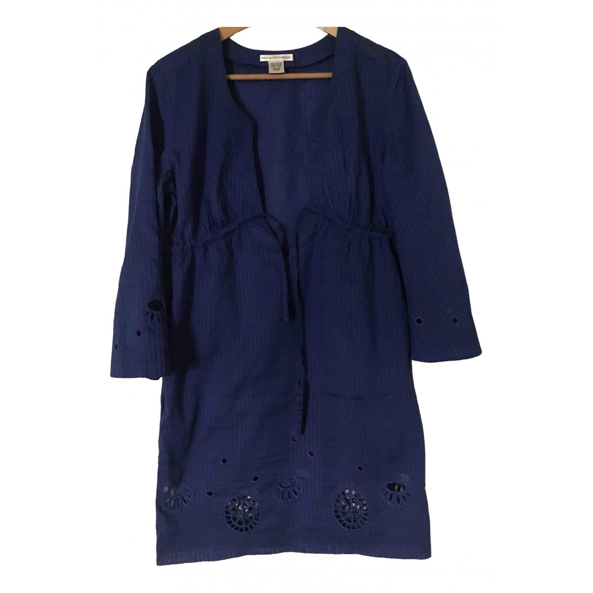 Diane Von Furstenberg \N Kleid in  Blau Baumwolle