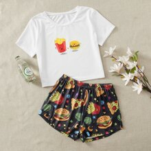 Food Pattern PJ Set
