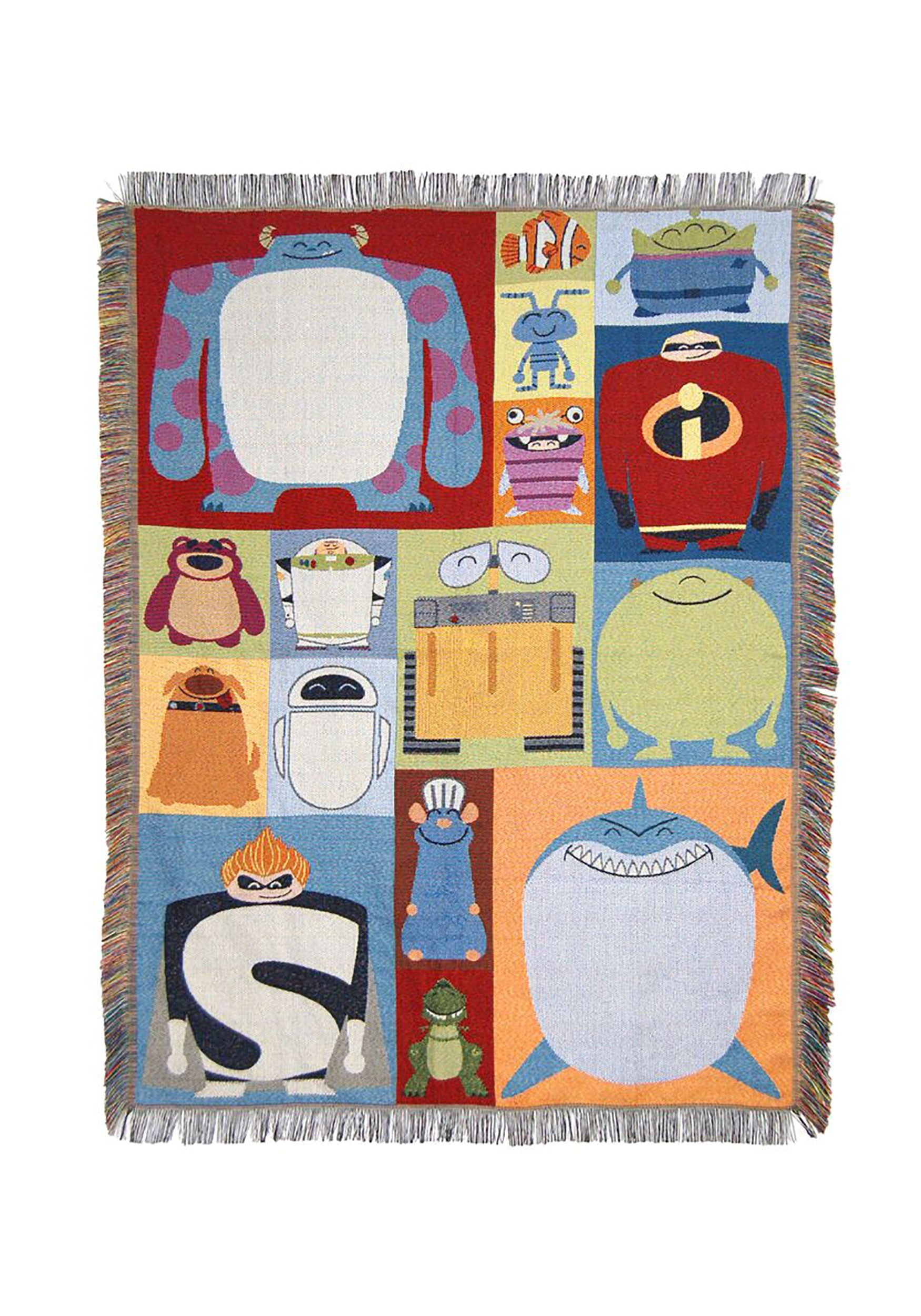 Disney Pixar Characters Tapestry Throw