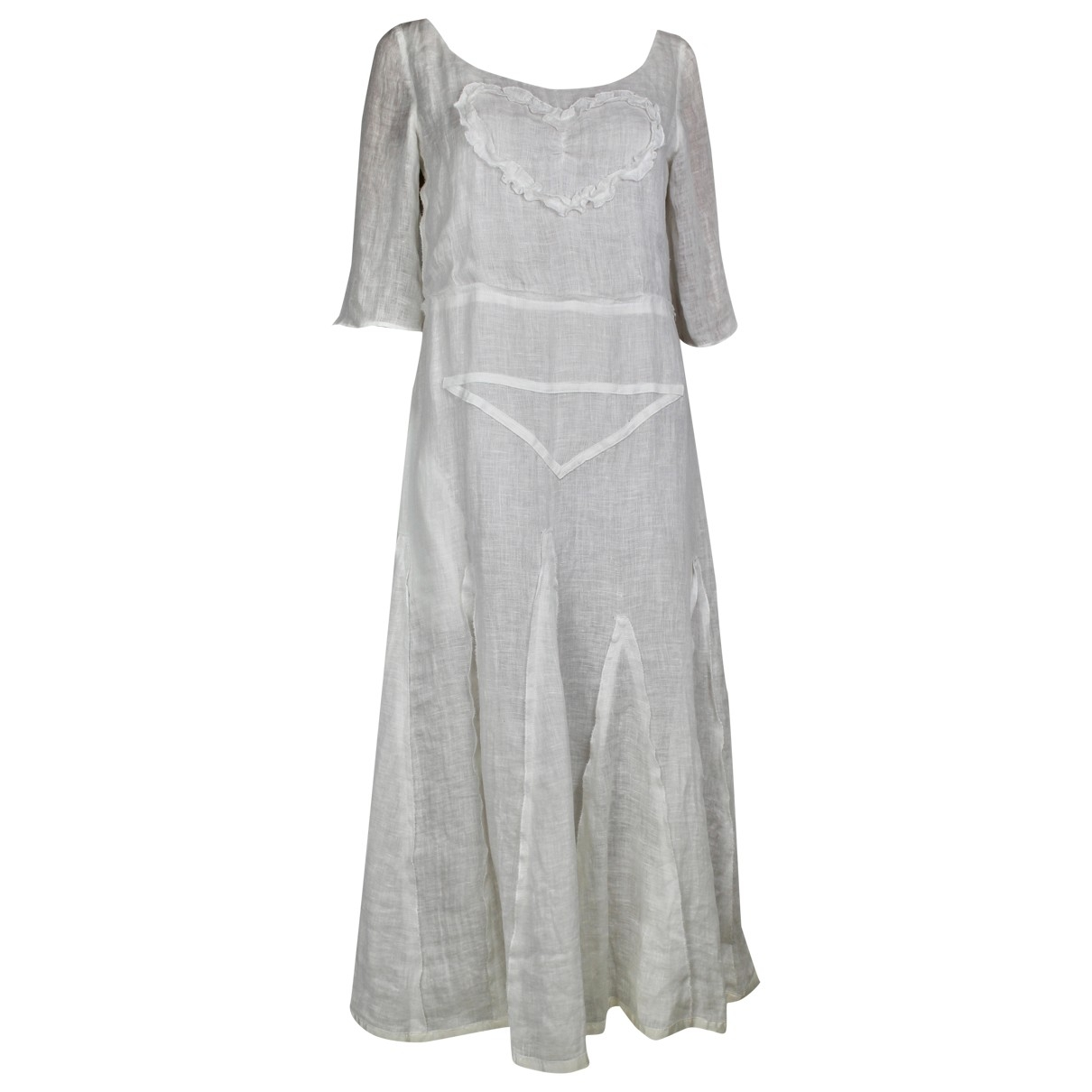 Sonia Rykiel \N Ecru Linen dress for Women 38 FR