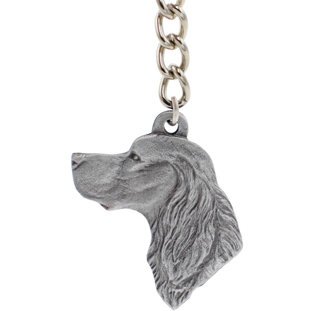 Dog Breed Keychain USA Pewter - Gordon Setter (2.5