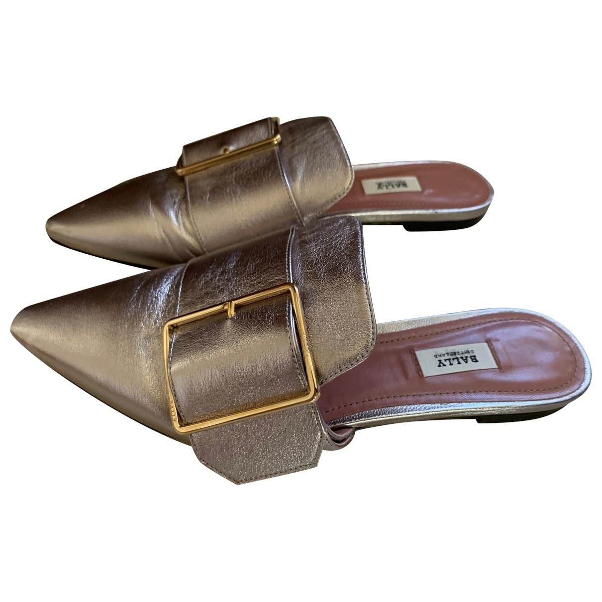 Bally \N Metallic Leather Sandals for Women 36 EU