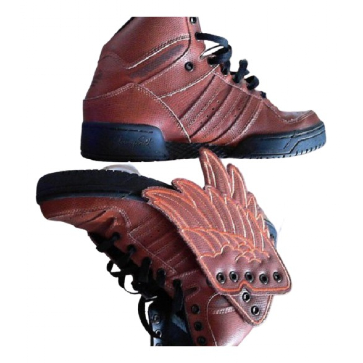Jeremy Scott Pour Adidas \N Sneakers in  Khaki Leder