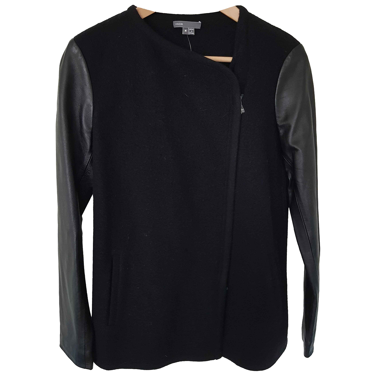 Vince - Manteau   pour femme en laine - noir