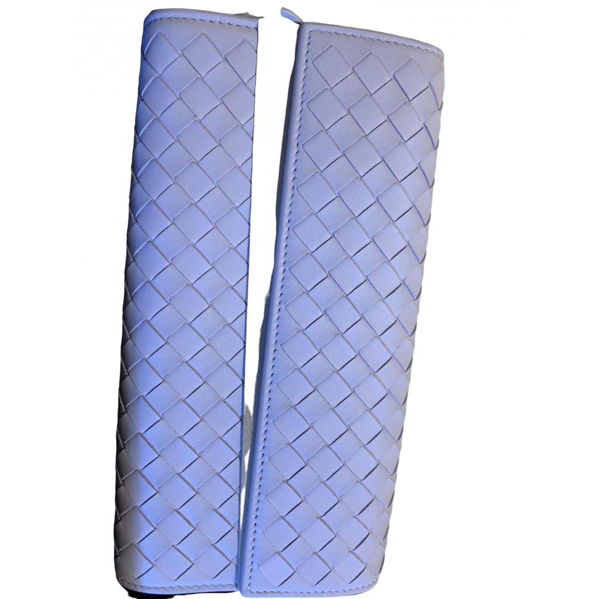 Bottega Veneta Intrecciato Turquoise Leather wallet for Women \N