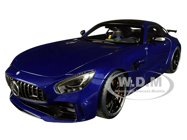 Mercedes AMG GT R Brilliant Blue Metallic with Carbon Top 1/18 Model Car by Autoart