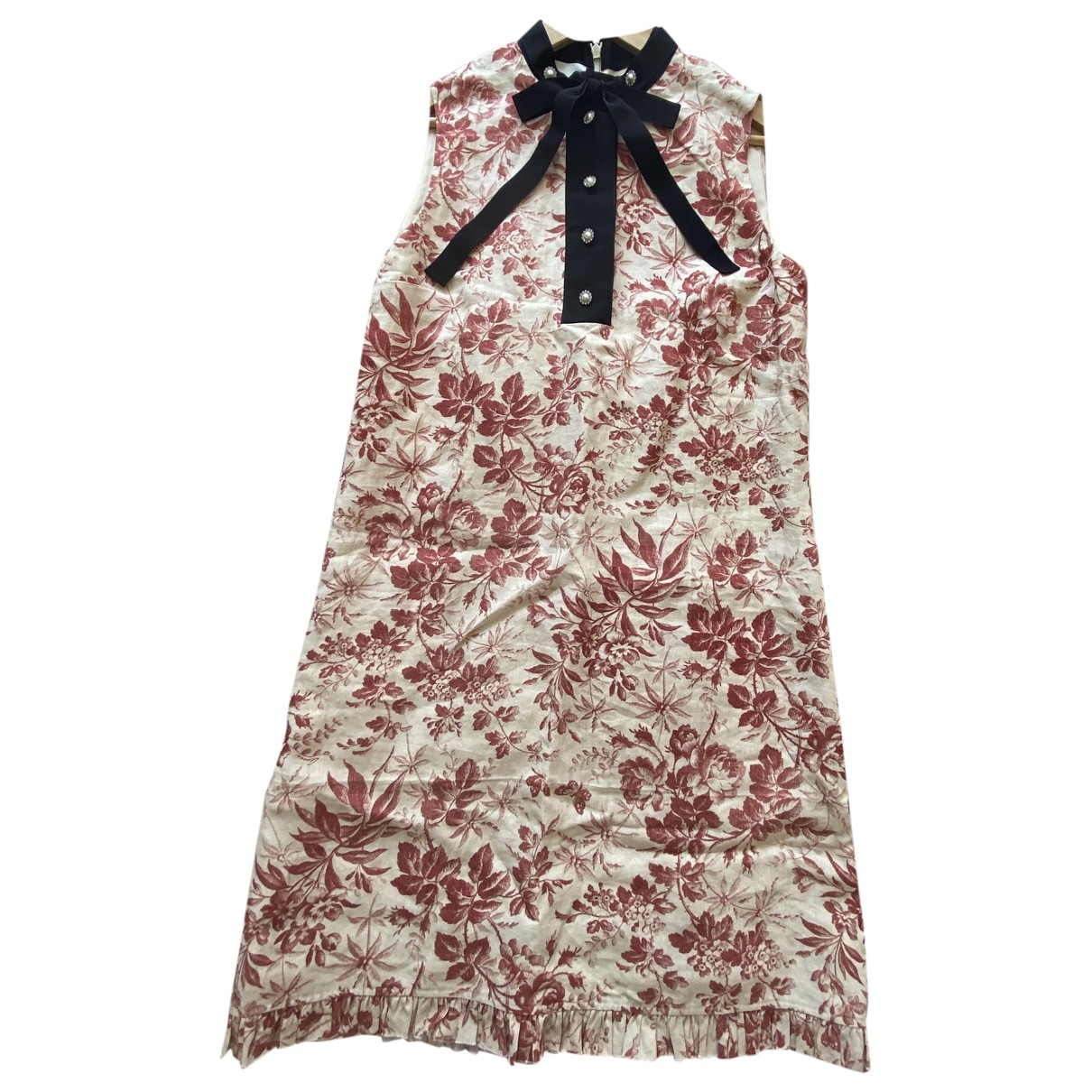 Gucci \N Kleid in  Beige Leinen