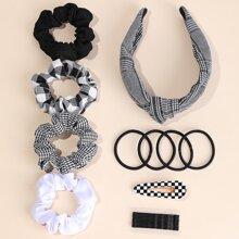 20 Stuecke Haar Accessory mit Karo Muster