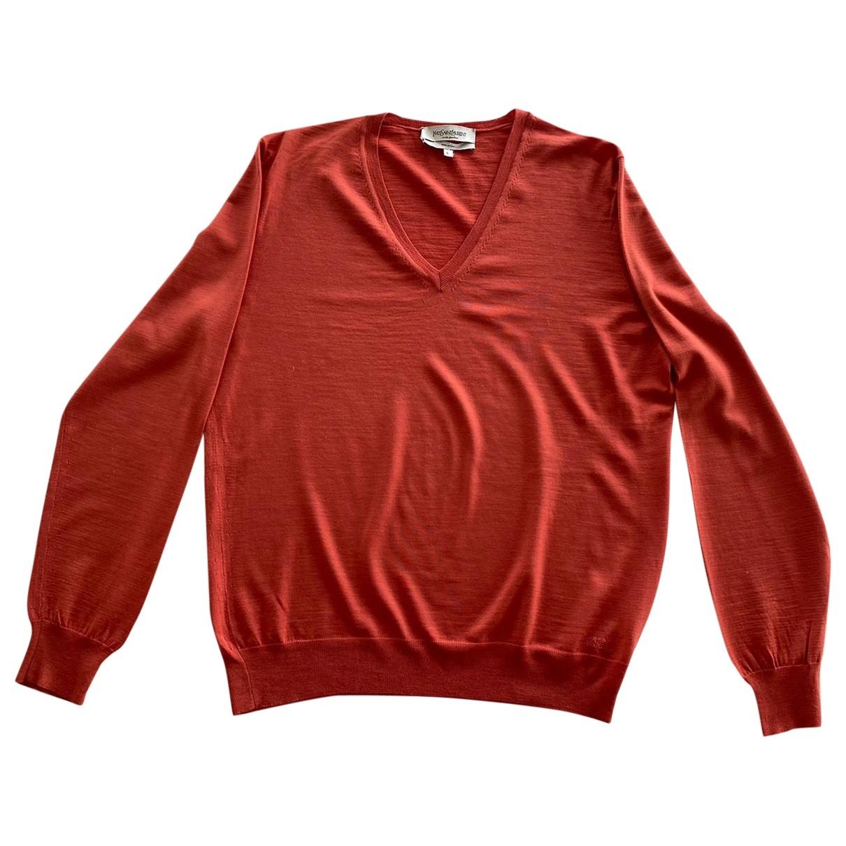 Yves Saint Laurent - Pulls.Gilets.Sweats   pour homme en laine - orange