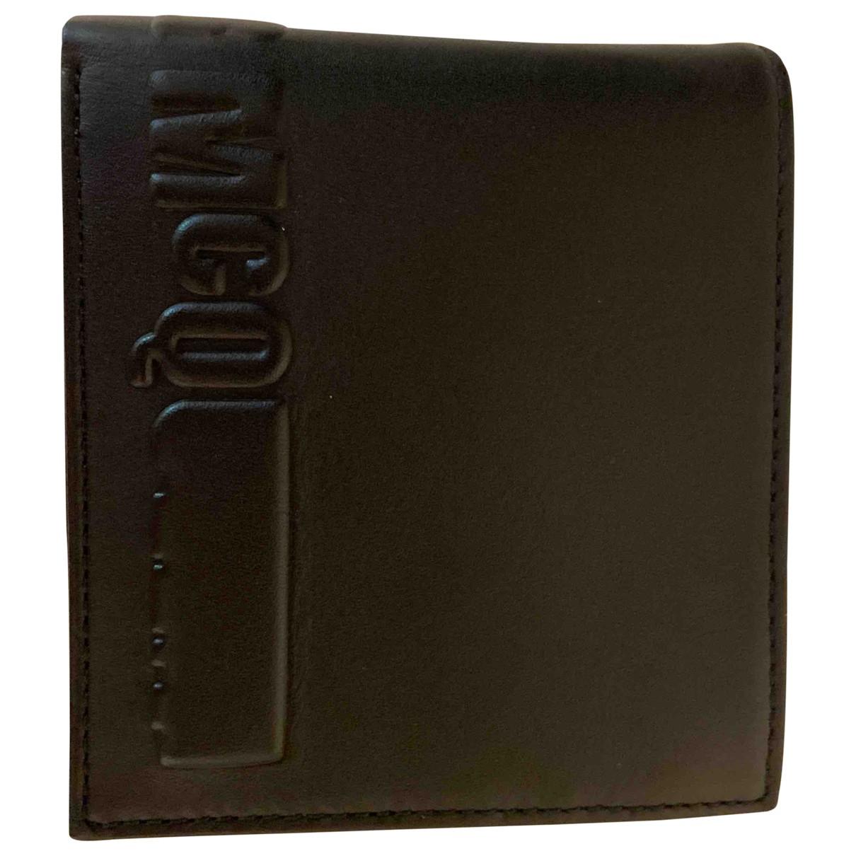 Mcq - Petite maroquinerie   pour homme en cuir - noir