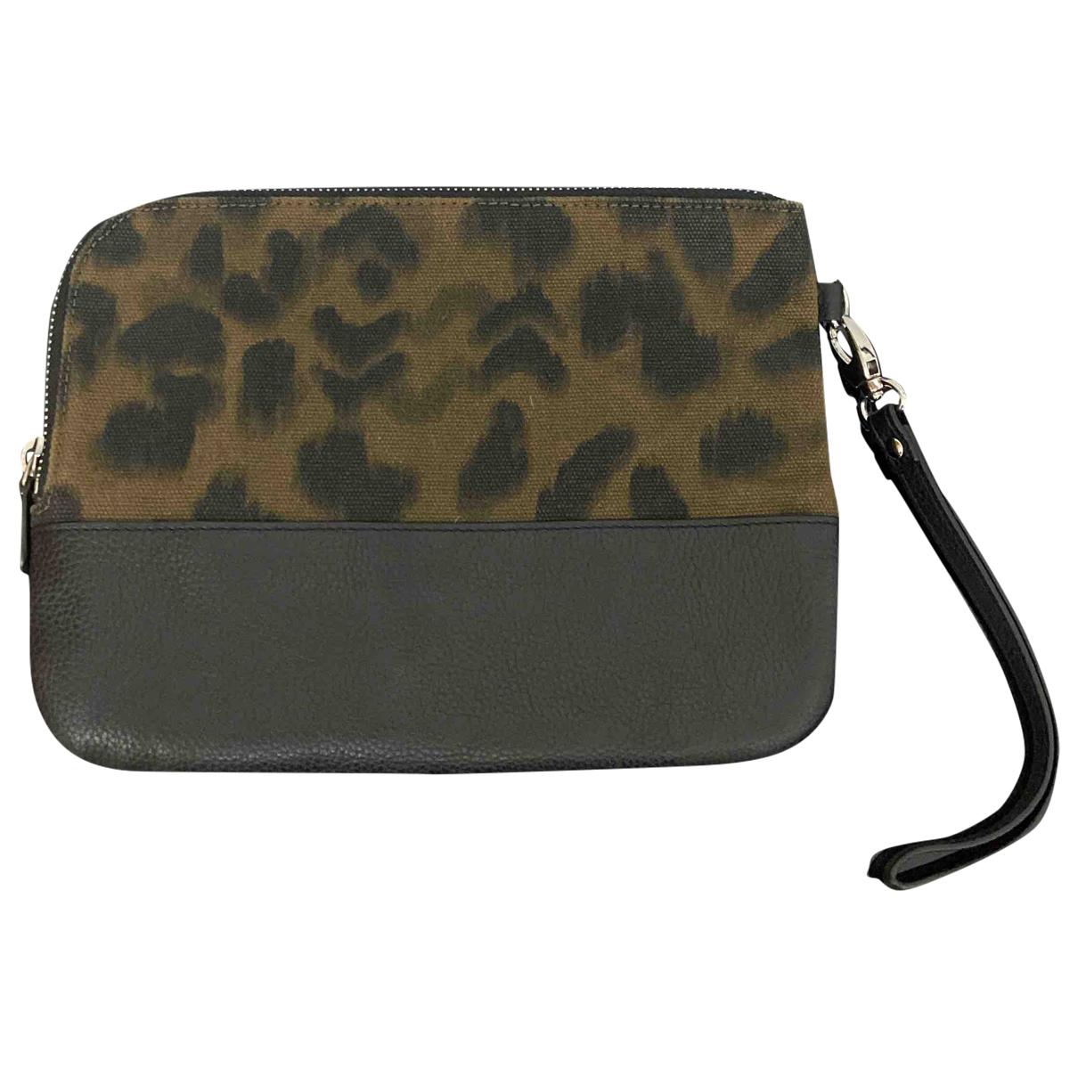 Sandro \N Green Cotton Clutch bag for Women \N