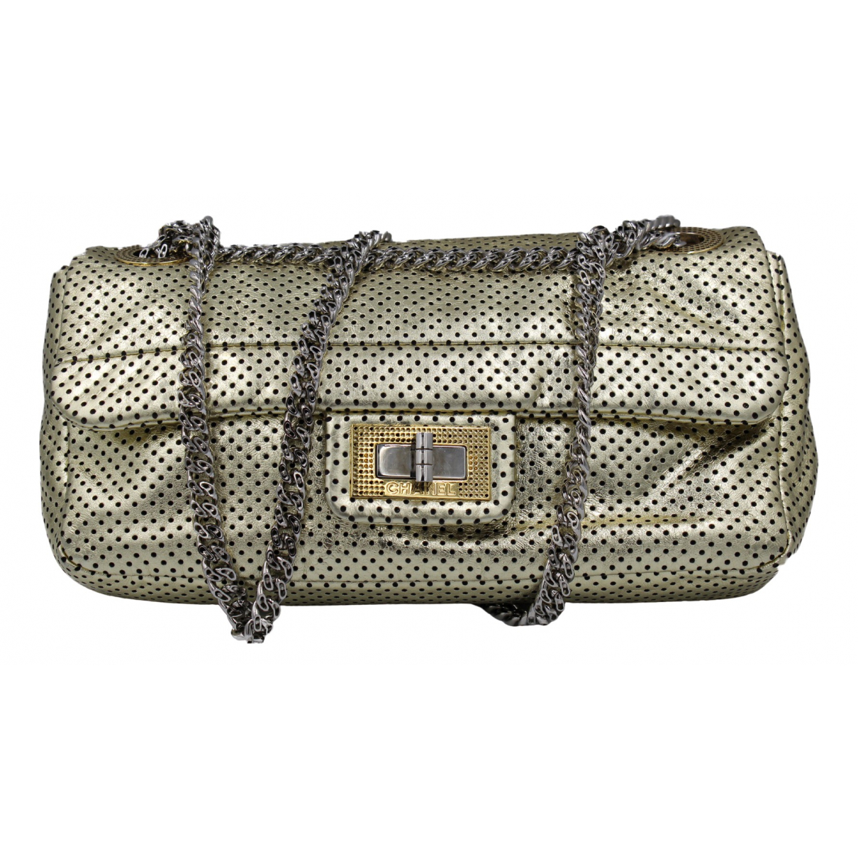 Chanel 2.55 Gold Leather handbag for Women N