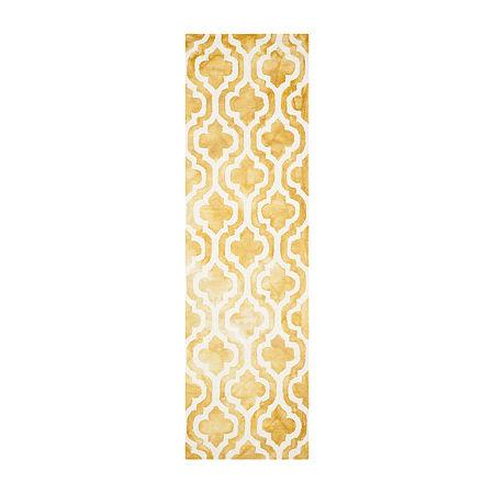 Safavieh Dip Dye Collection Elfrida Geometric Runner Rug, One Size , Multiple Colors