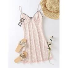 Floral Print Bow Detail Cami Dress