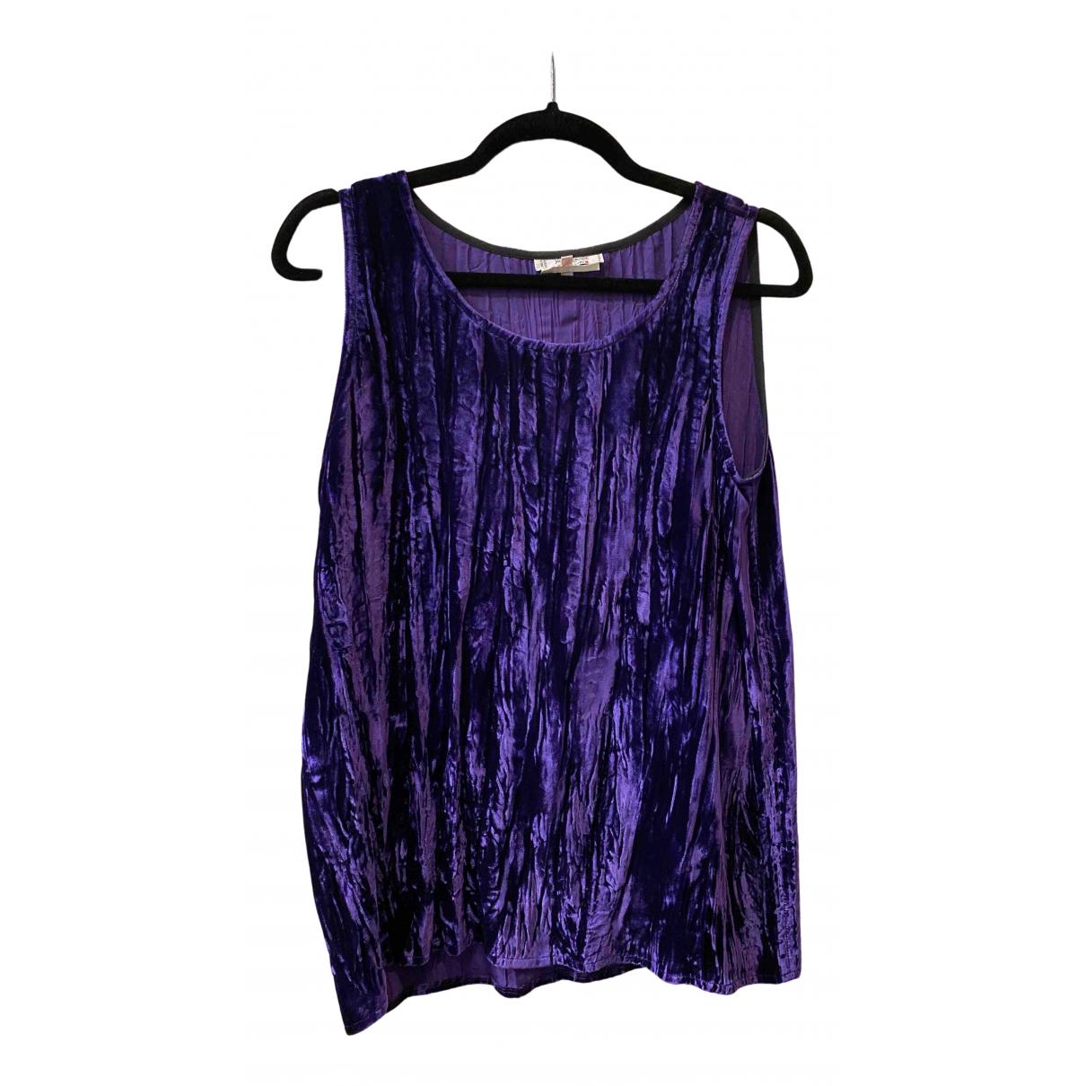 Yves Saint Laurent - Top   pour femme en velours - violet