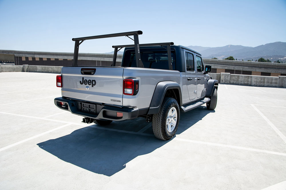 US Rack 82240251 Clipper Truck Bed Rack Black Aluminum |  Mild Steel Jeep Gladiator 2020+