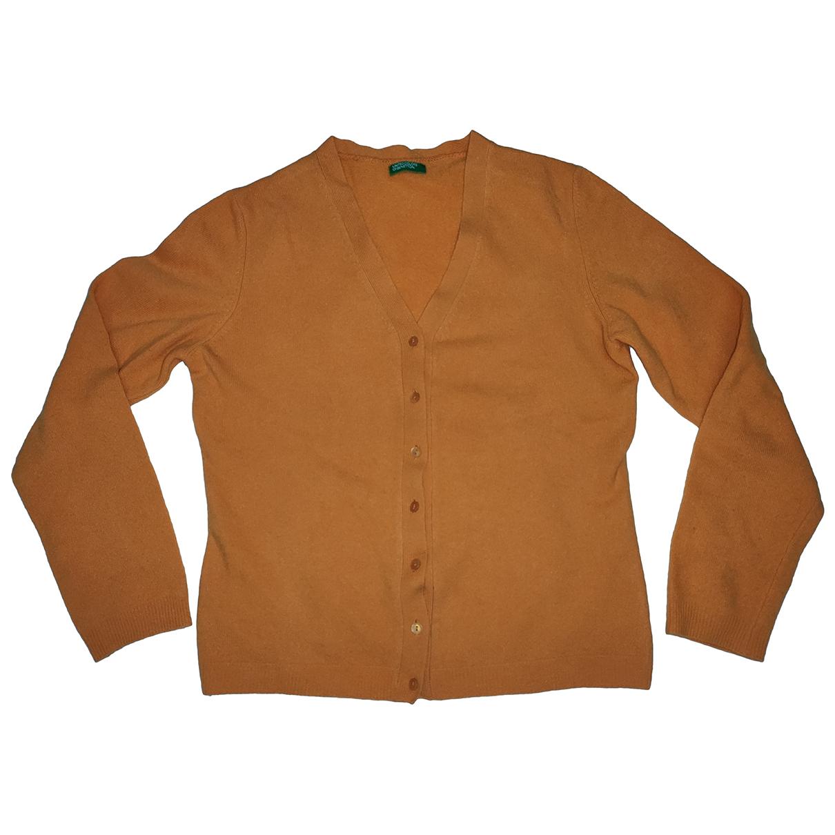 Benetton - Pull   pour femme en laine - orange