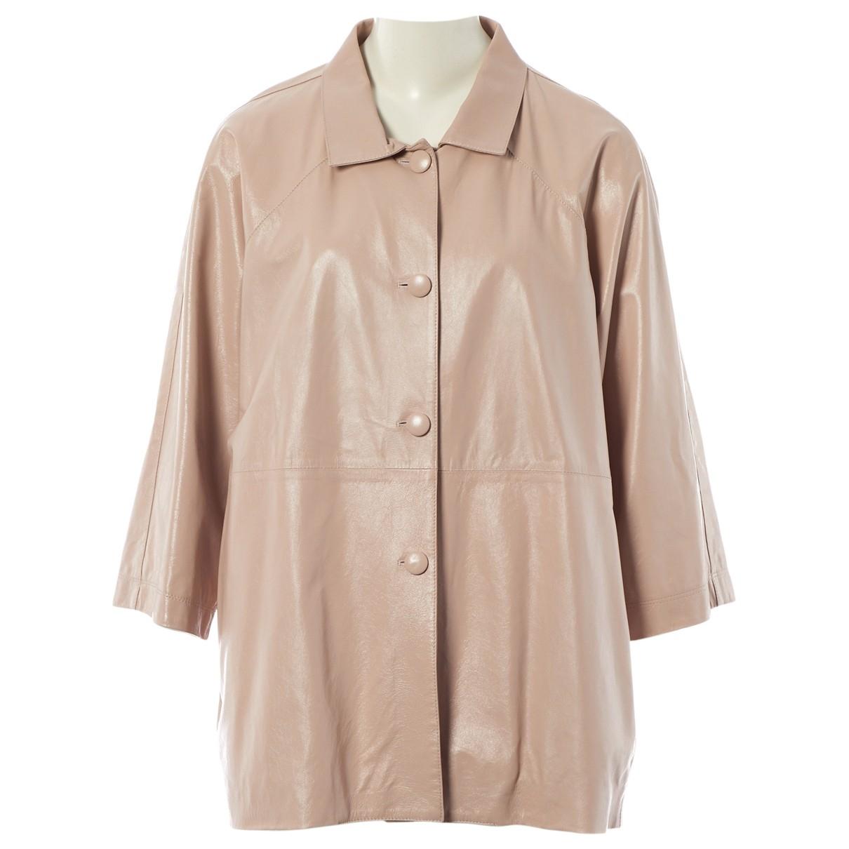 Non Signe / Unsigned Oversize Jacke in  Rosa Leder
