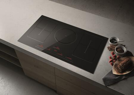 EGL536BL 36 Air Cooking Series Golden Induction Cooktop with 9 Power Level  Power Booster  Timer  Bridge Zone  Pot Detector  Temperature Manager  in