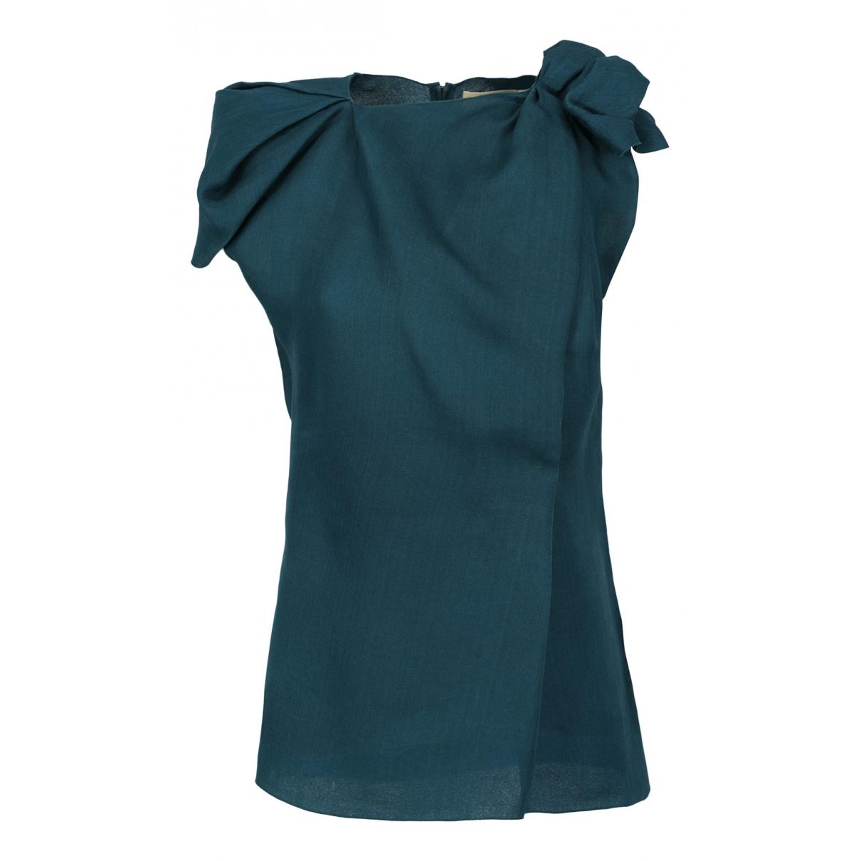 Lanvin \N Green Silk  top for Women 38 FR