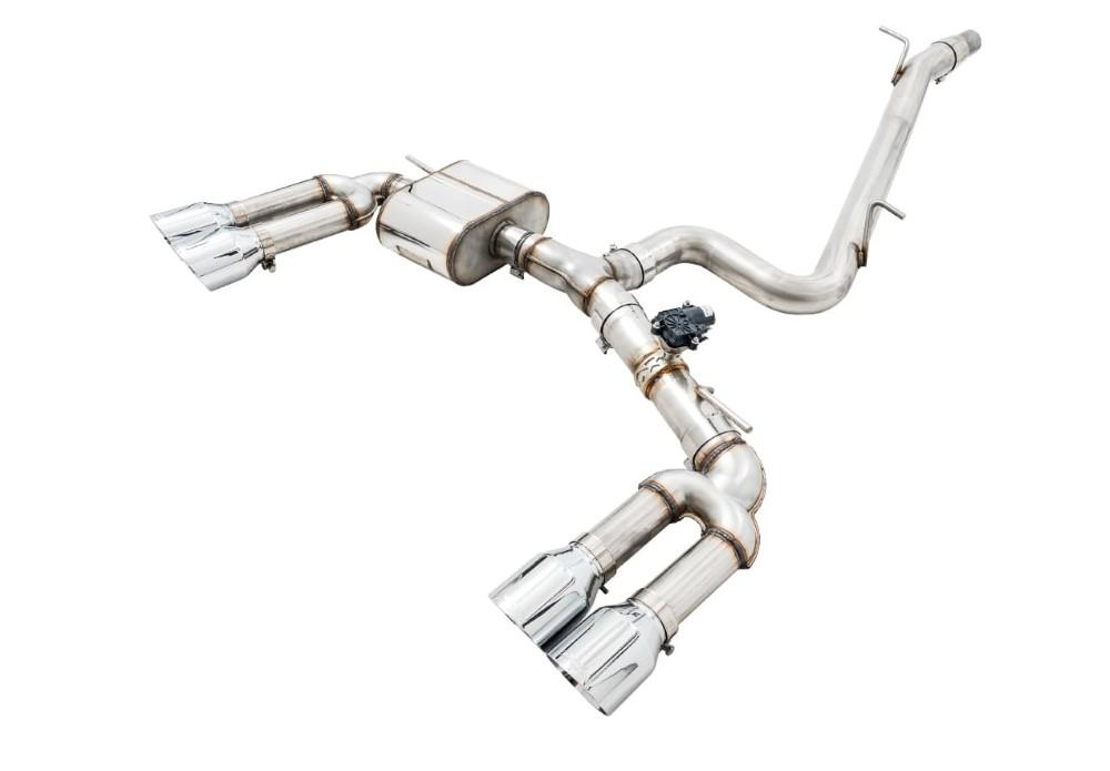 AWE Tuning 3025-43072 SwitchPath Exhaust w/ 102mm Diamond Black Tips Audi 8V S3 2015-2020