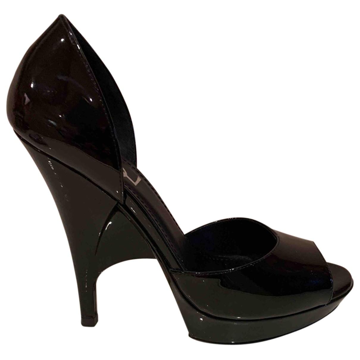 Yves Saint Laurent - Escarpins   pour femme en cuir verni - noir