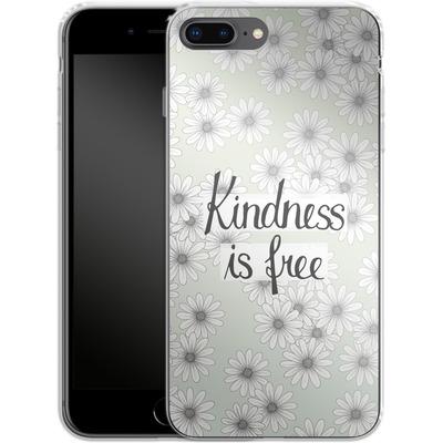 Apple iPhone 7 Plus Silikon Handyhuelle - Kindness is Free von Barlena