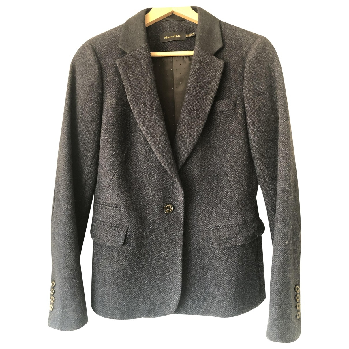 Massimo Dutti \N Blue Wool jacket for Women 40 FR