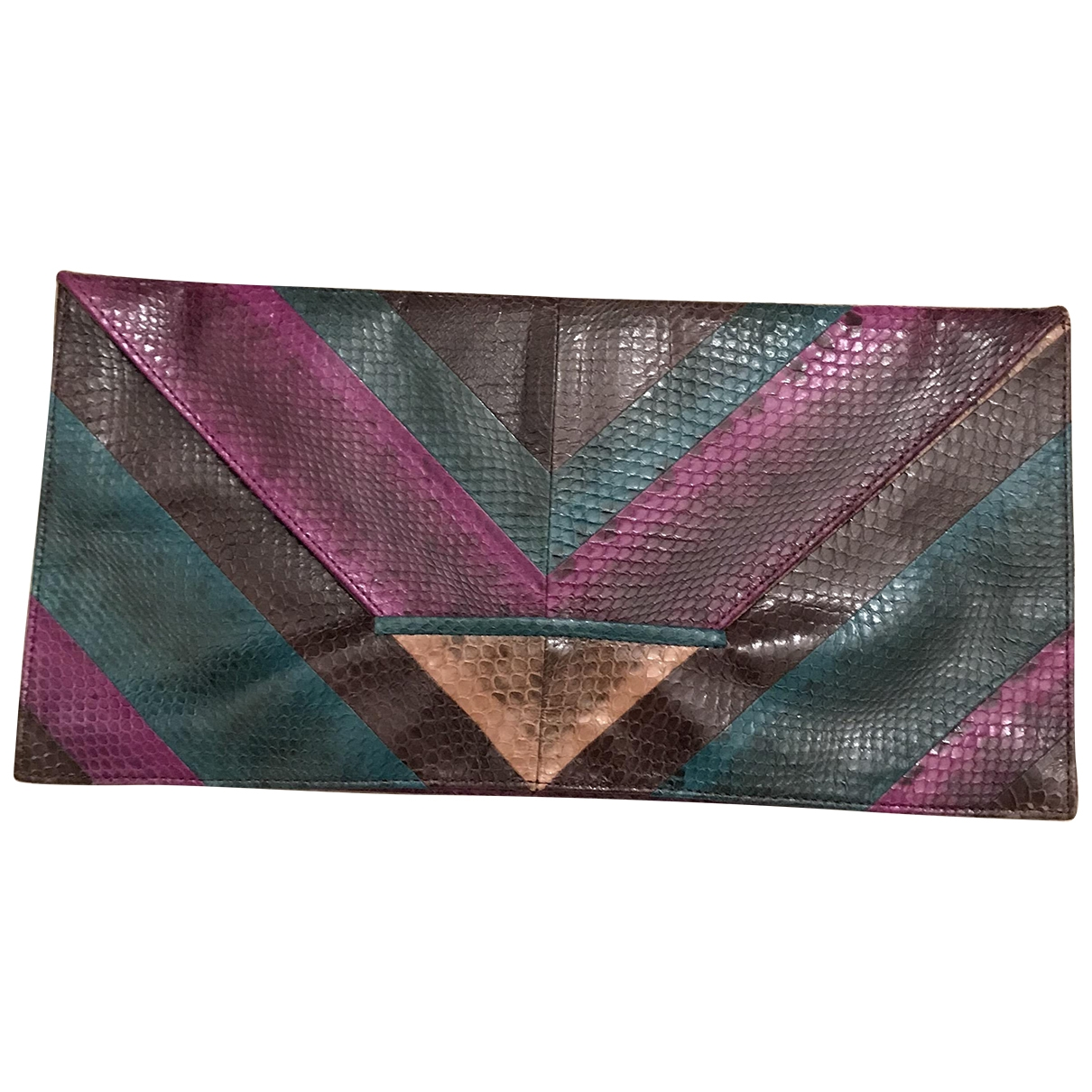 Non Signé / Unsigned \N Multicolour Water snake Clutch bag for Women \N