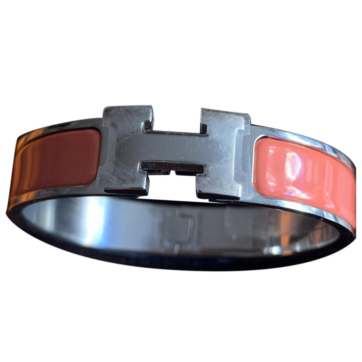 Hermes - Bracelet Clic H pour femme en acier - orange