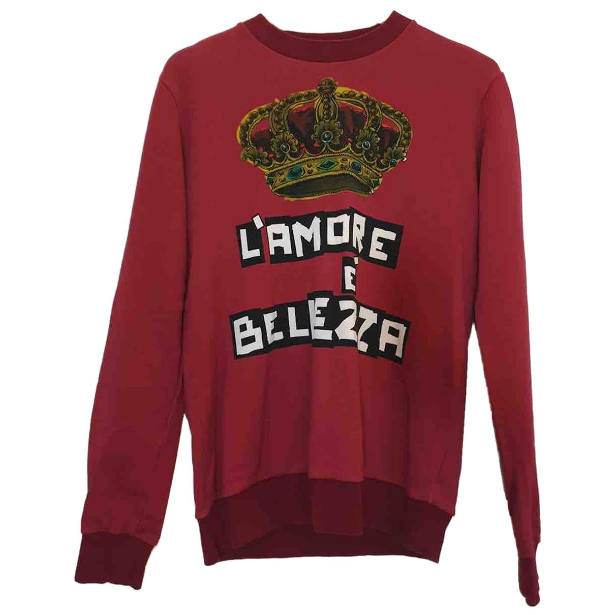 Dolce & Gabbana - Pulls.Gilets.Sweats   pour homme en coton - rouge