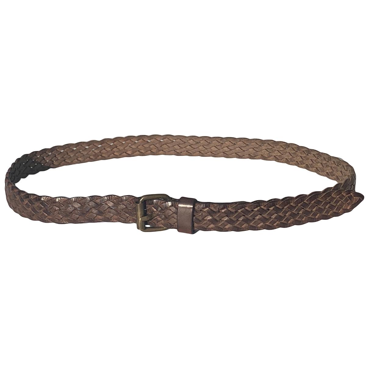 Hoss Intropia \N Brown Leather belt for Women S International