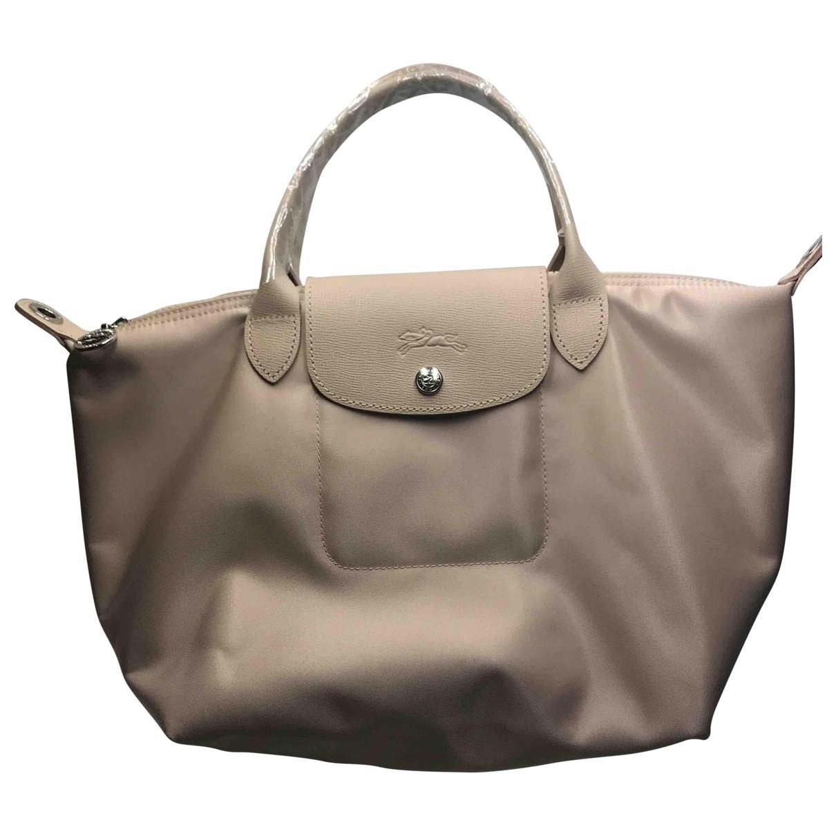 Longchamp Pliage  Handtasche in  Beige Leder
