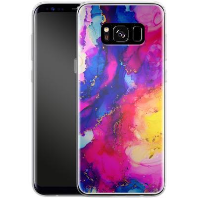 Samsung Galaxy S8 Silikon Handyhuelle - Cosmic Swirl I von Stella Lightheart