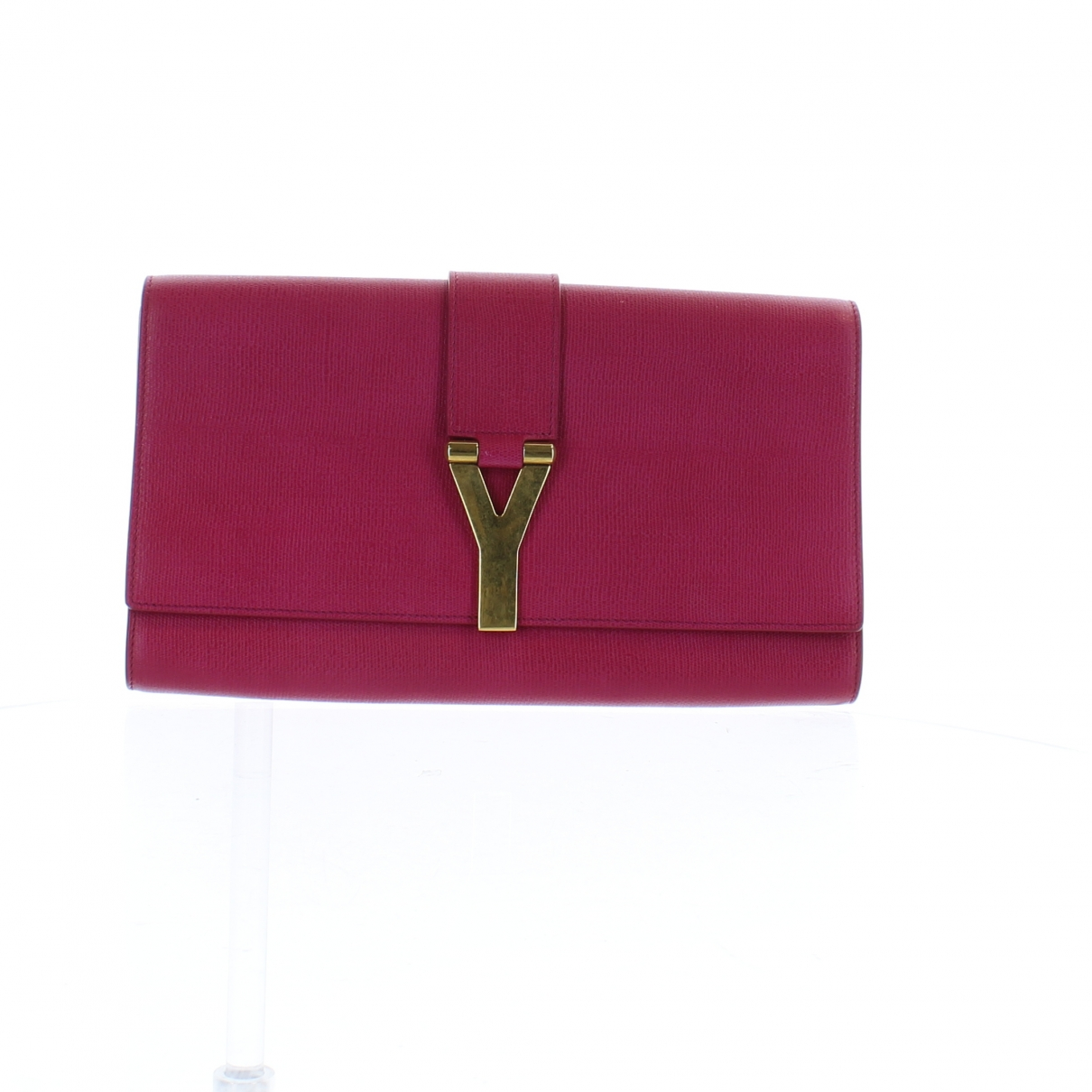 Yves Saint Laurent Chyc Clutch in  Rosa Leder