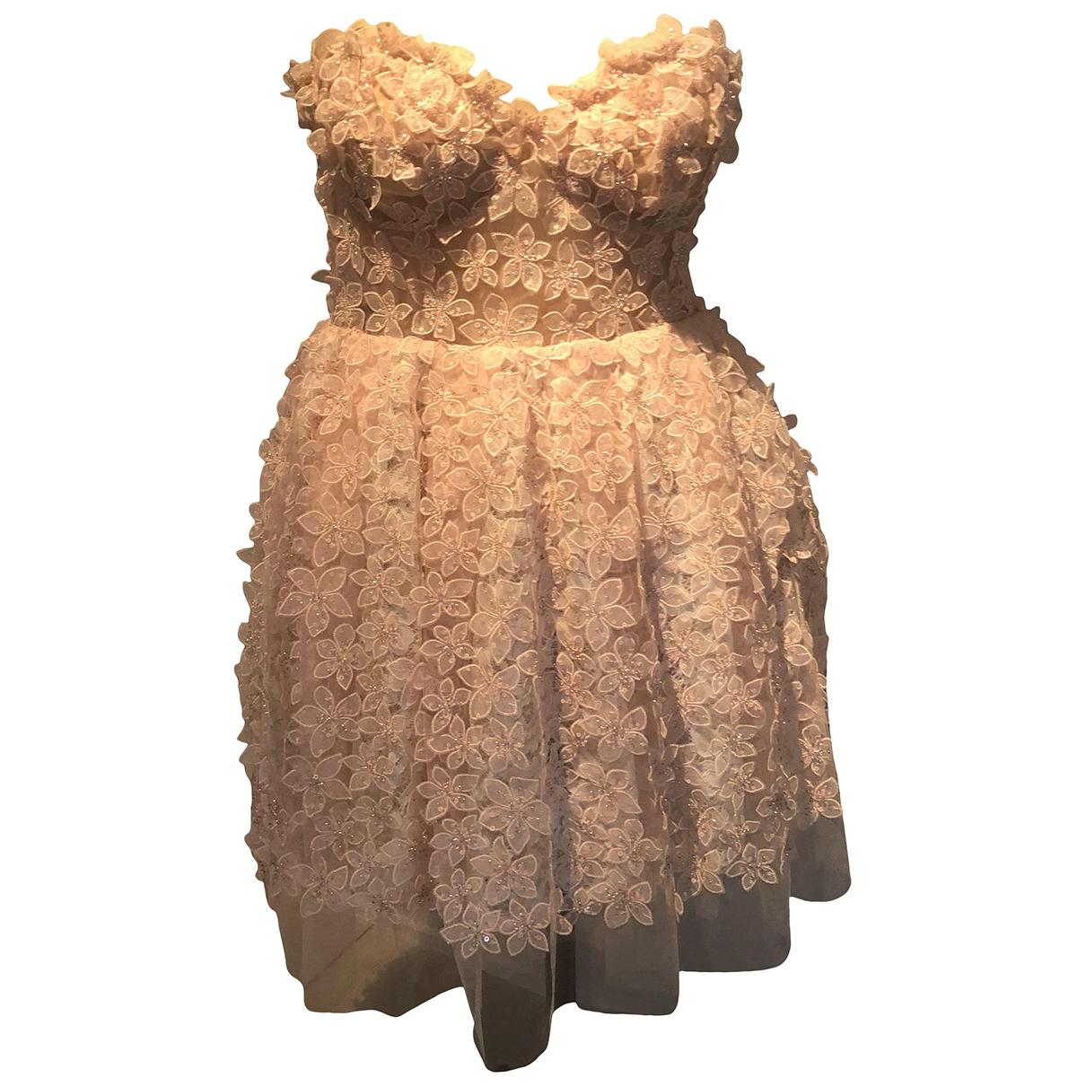Giambattista Valli X H&m \N Kleid in  Rosa Spitze