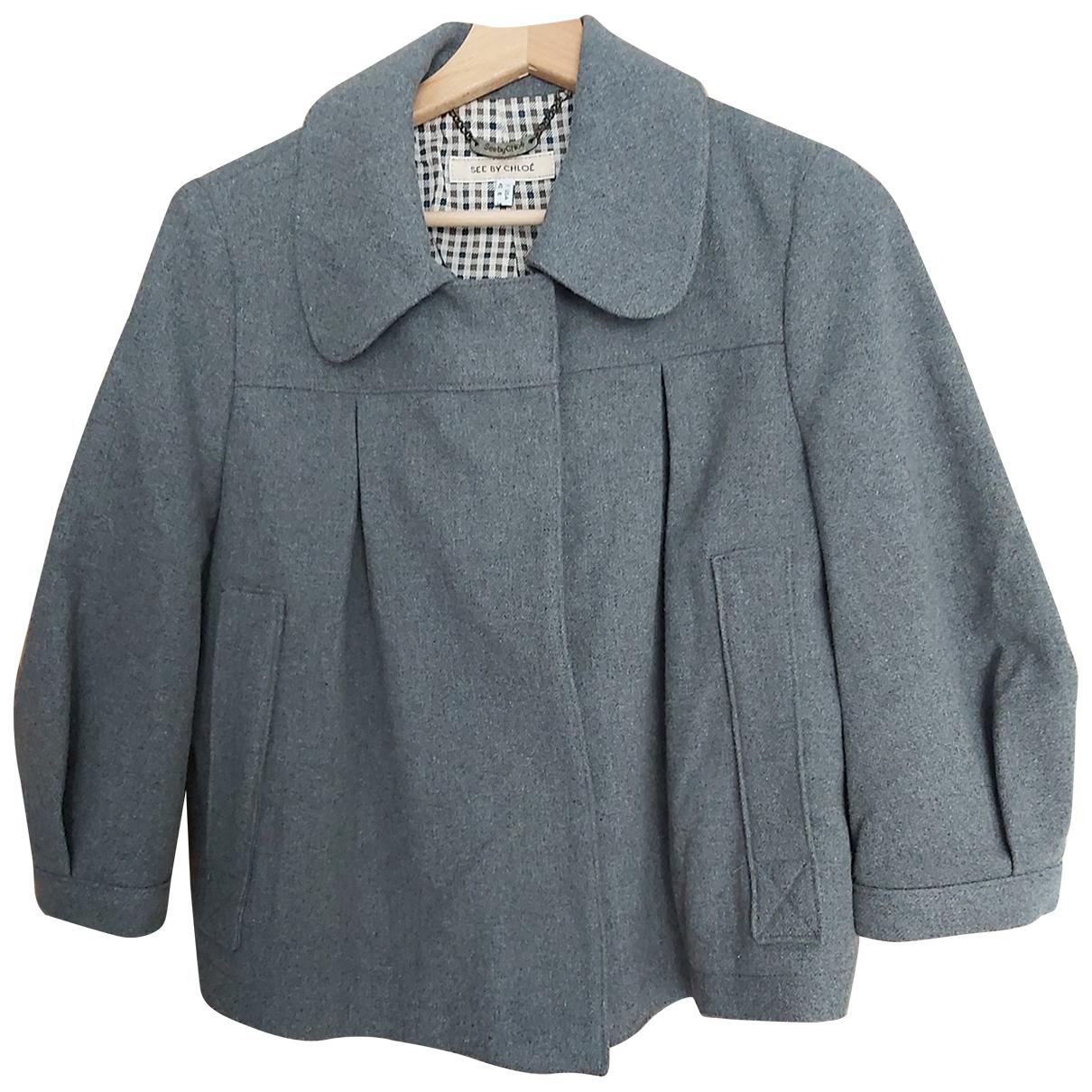 See By Chloe - Veste   pour femme en laine - gris