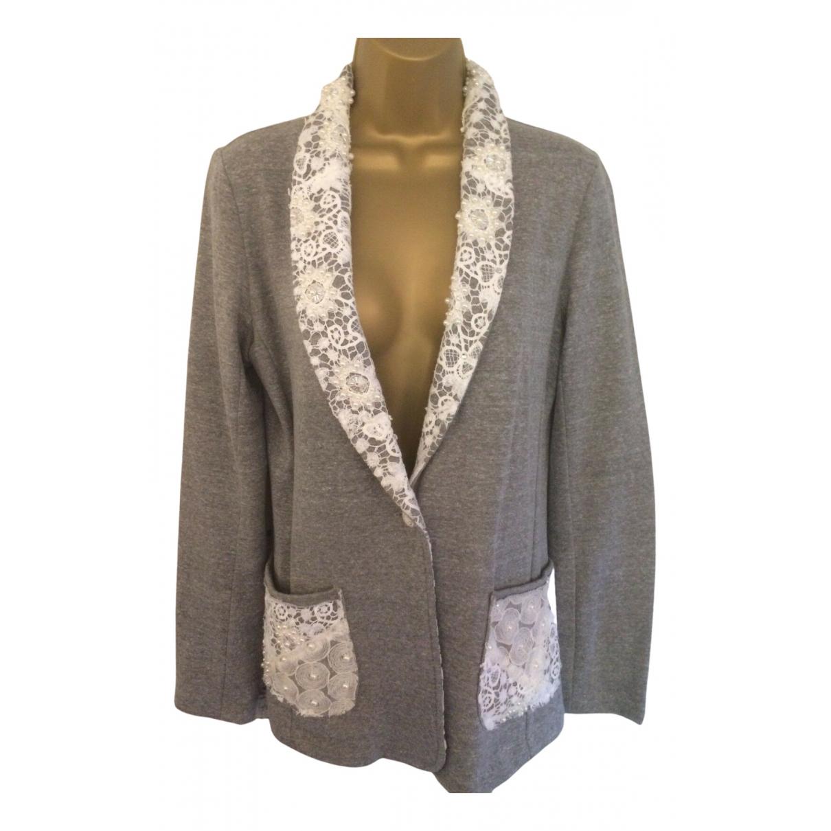 American Retro - Veste   pour femme en laine - gris