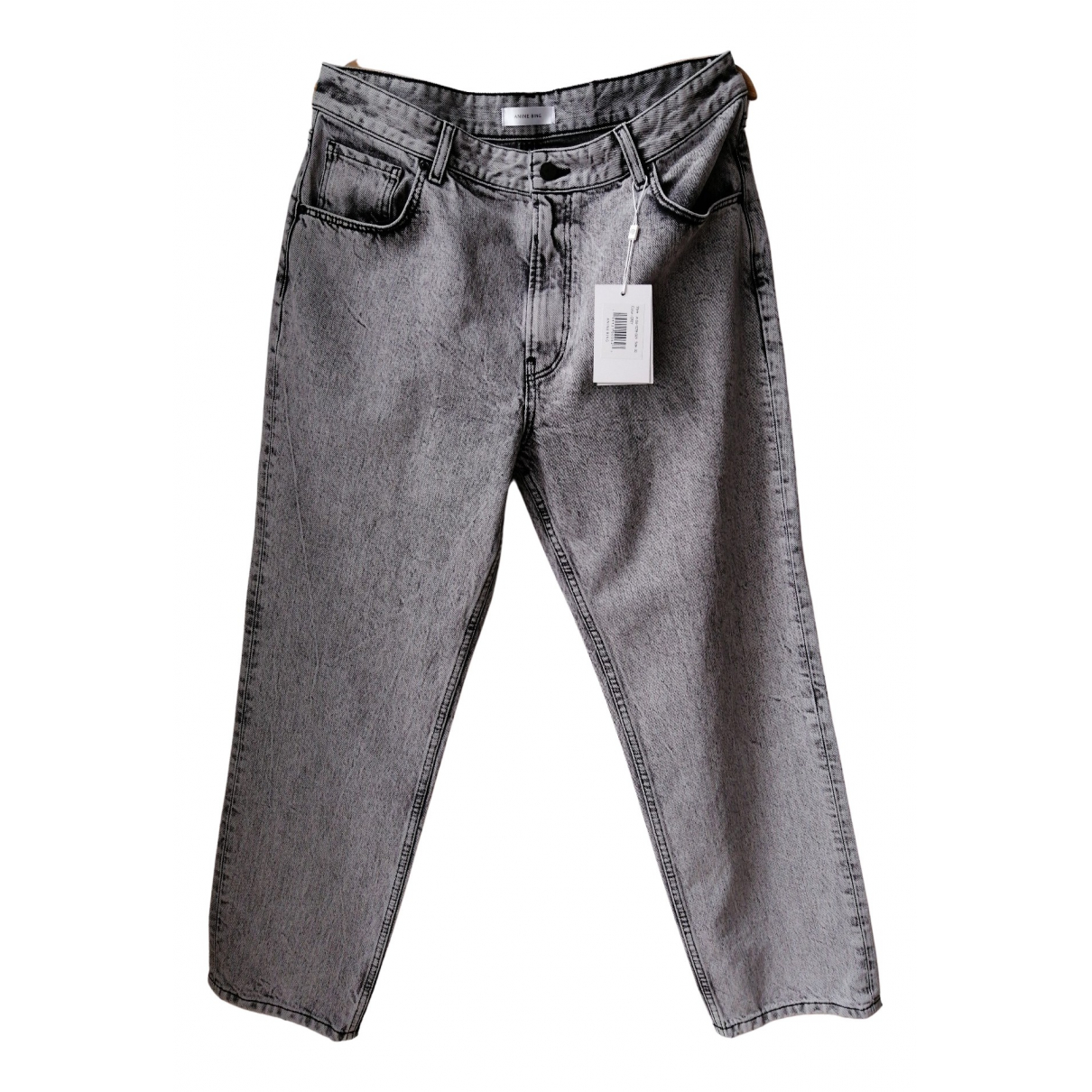 Anine Bing N Grey Cotton Jeans for Women 32 US