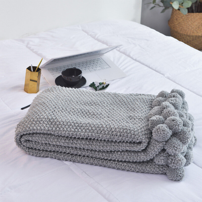 Nordic Knitted Throw Blanket Autumn Spring Soft Sleeping Blanket Sofa Cover Blanket Knee Blanket